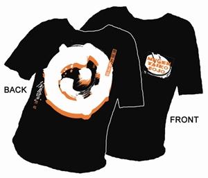 """Picture of Mugen Taiko Dojo T-shirt - """"Orange Drum"""""""